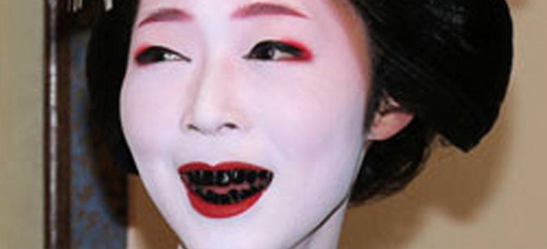 Estetica dentale: dai Maya alle Gheishe, tutte le usanze più strane
